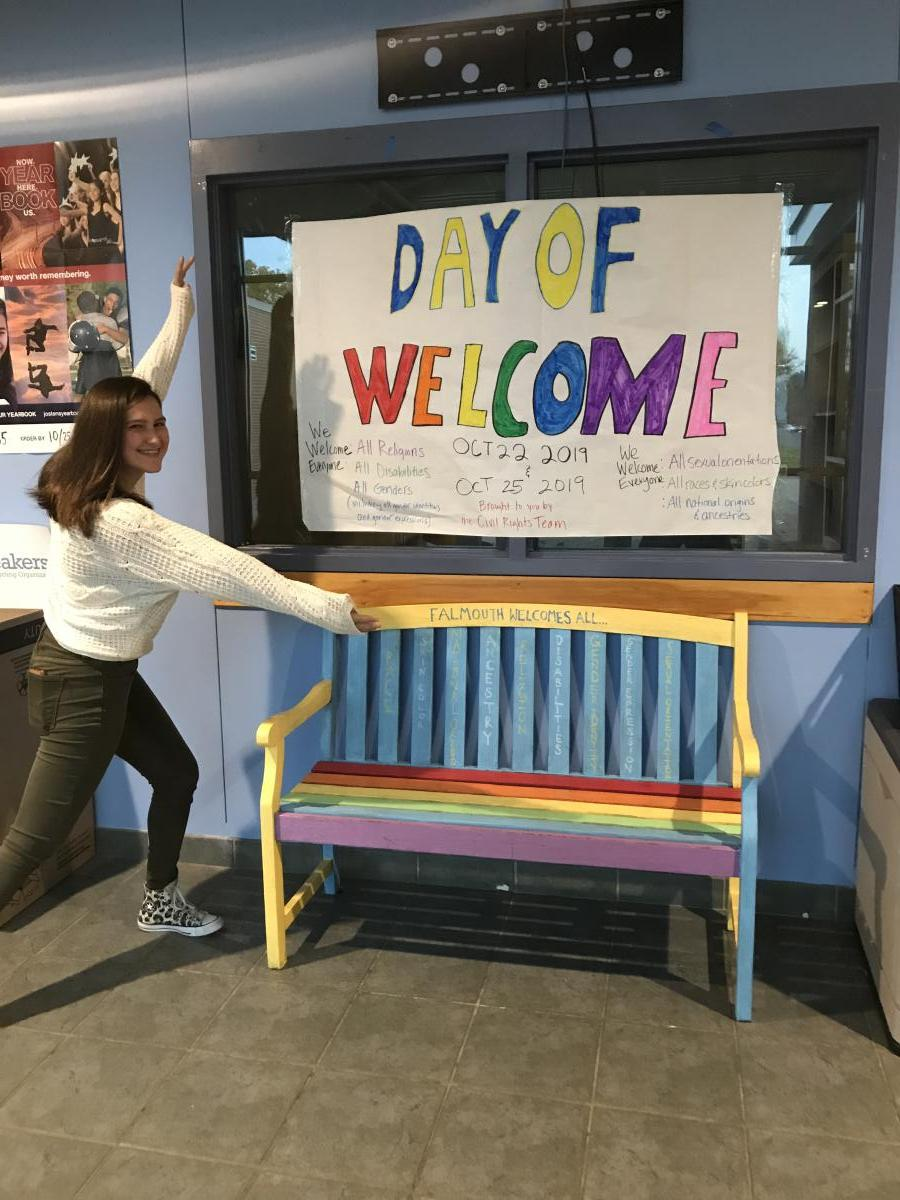 FEF  purchased school welcoming bench for Civil Rights Team